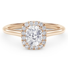 Center of My Universe™ Cushion Halo Engagement Ring