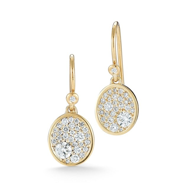 Pave Signet Earrings