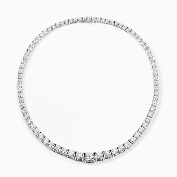 Riviera Diamond Row Necklace