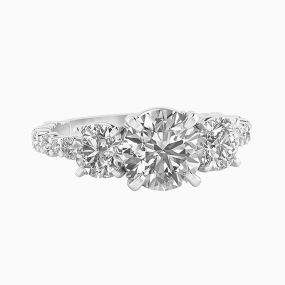 Integre Perfect Three Stone Ring
