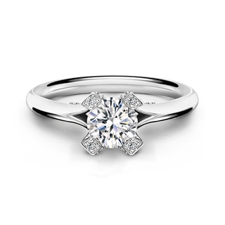 Cornerstones® Semi-Pavé Solitaire Ring