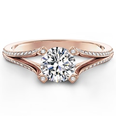 Cornerstones™ Pavé Split Shank Ring
