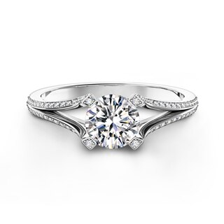 Cornerstones® Pavé Split Shank Diamond Ring