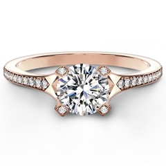 Cornerstones™ Pavé Solitaire Ring