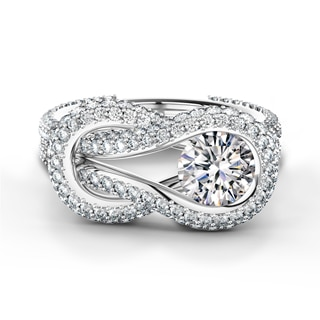 Encordia® Solitaire Pavé Ring