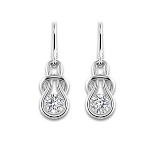 Encordia® Solitaire Drop Earrings