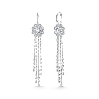 Endlea Pavé Tassels Earrings