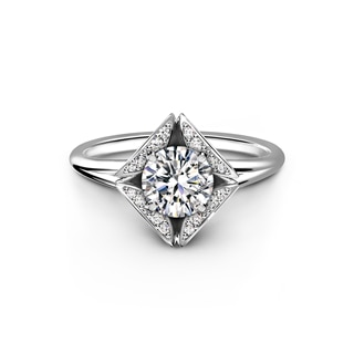 The Forevermark Eternal™ Collection Solitaire Pavé Ring