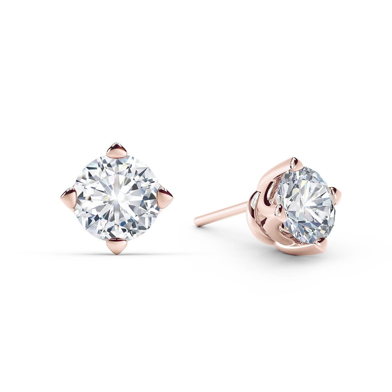 Floating Diamond Stud Earrings