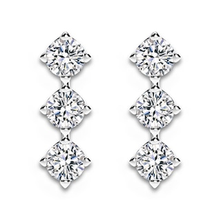 Forevermark Setting® Three Diamonds Drop Earrings