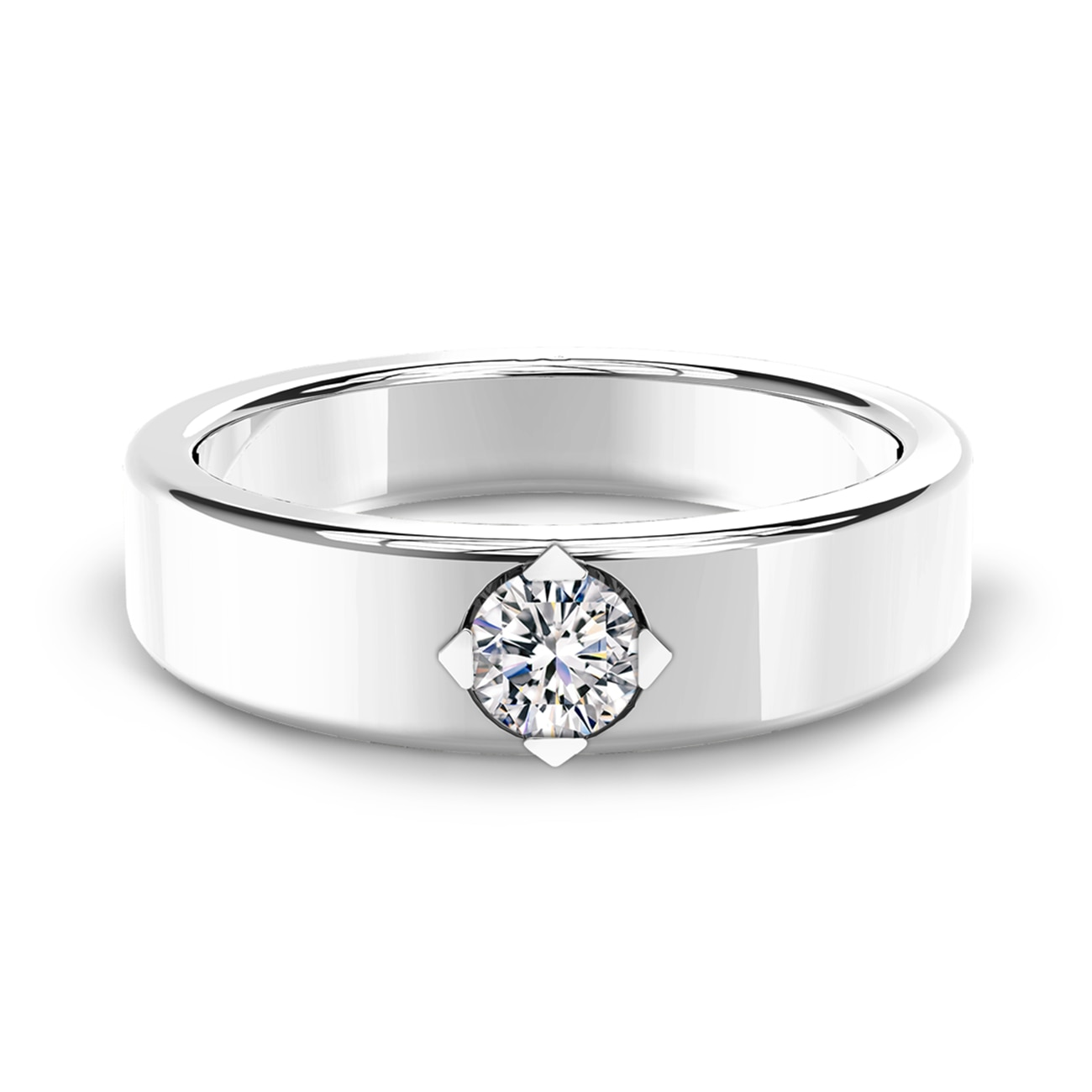 Forevermark Setting® Men's Wedding Band