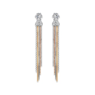 Millemoi™ Solitaire Pavé Tassel Earrings