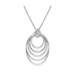 Millemoi™ Solitaire Long Circle Pendant