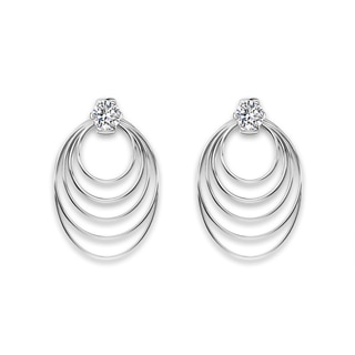 Millemoi™ Solitaire Long Circle Earrings