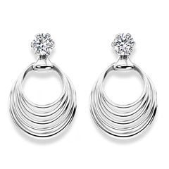 Millemoi™ Solitaire Circle Earrings