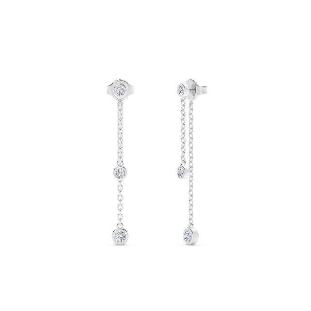 The Forevermark Tribute Collection Double Diamond Drop Earrings