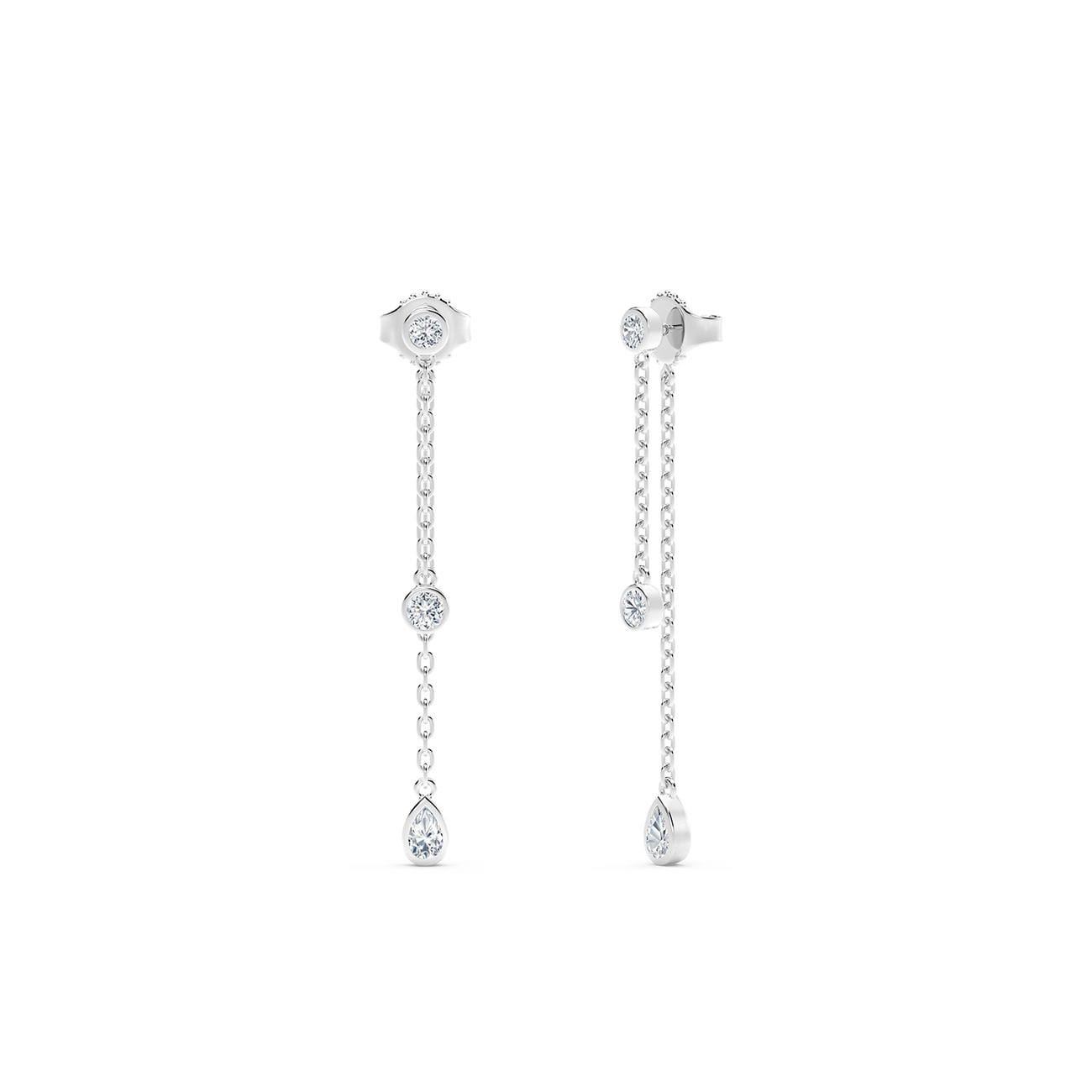 hanging beautiful earrings drop diamond stud of amp