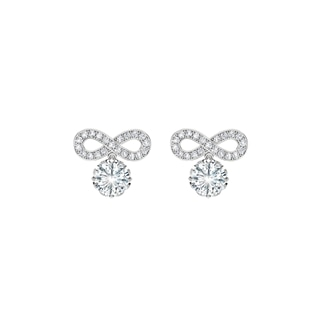 Endlea™ Collection Solitaire Pavé Earrings