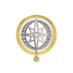 Artemis™ Collection Star and Moon Brooch
