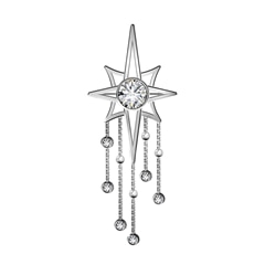 Artemis™ Collection Star Tassels Brooch