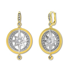 Artemis™ Collection Drop Star and Moon Earrings