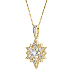 Artemis™ Collection Solitaire Star and Mood Pendant
