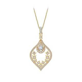 Artemis™ Collection Solitaire Moon and Stars Pendant