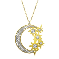 Artemis™ Collection Multi Stone Moon and Stars Pendant