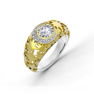 Artemis™ Collection Star and Moon Multi-Metal Ring