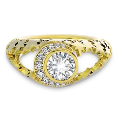 Artemis™ Collection Star and Moon Solitaire Ring