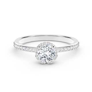 The Forevermark Endlea™ Collection Halo Pavè Ring