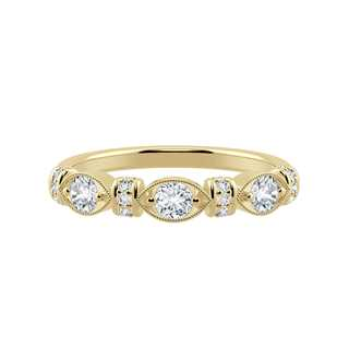 Marquis Shape Round Band