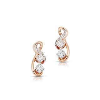 Twogether™ Two Diamond Semi Pavé Earrings