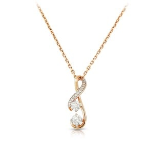 Twogether™ Two Diamond Semi Pavé Pendant
