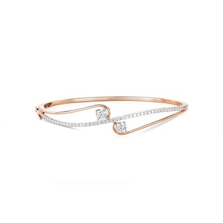 Twogether™ Two Diamond Semi Pavé Bangle