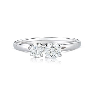 Twogether™ Two Diamond Plain Ring