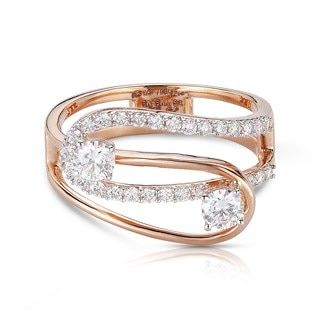 Twogether™ Two Diamond Loop Ring