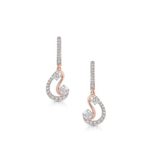 Twogether™ Two Diamond Pavé Drop Earrings