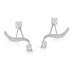 Twogether™ Collection Two Stone Curved Earring