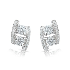 Twogether™ Collection Two Stone Two Line Earrings