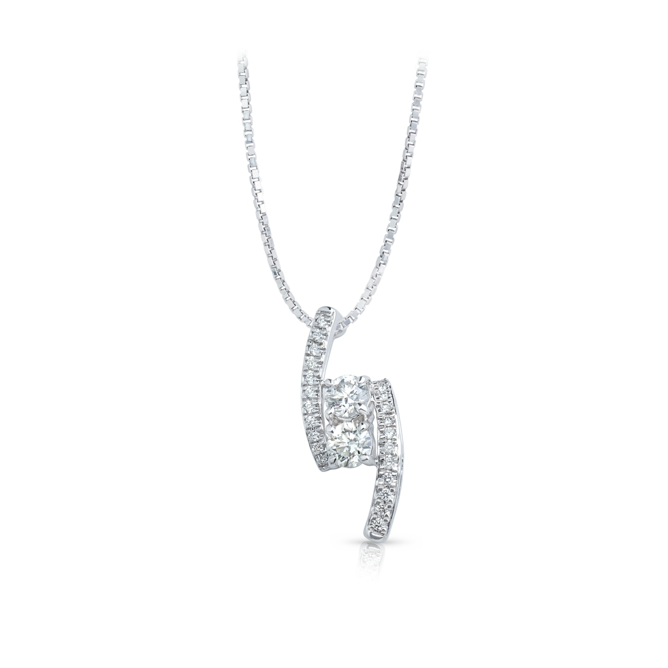 Twogether™ Collection Two Stone Two Line Pendant