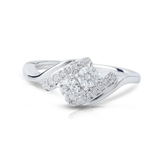 Twogether™ Collection Two Stone Curved Ring
