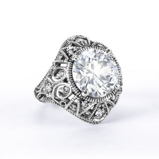 Zanyah™ Vintage Solitaire Diamond Cocktail Ring