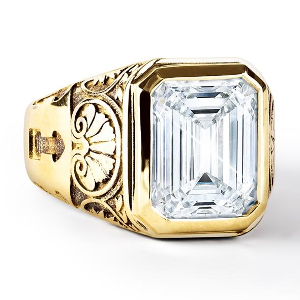 Zanyah Vintage Men S Solitaire Diamond Ring Forevermark