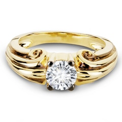 Zanyah™ Vintage Men's Diamond Ring in Yellow Gold