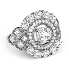 Zanyah™ Vintage Halo Diamond Ring