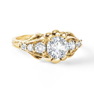 Zanyah™ Vintage Diamond Ring in Yellow Gold
