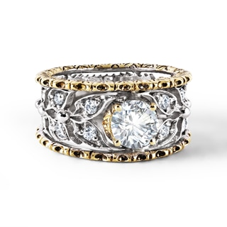 Zanyah™ Vintage Halo Diamond Band