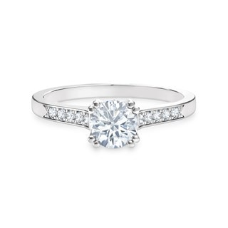 Solitaire Channel Set Engagement Ring