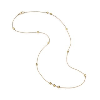 Golden Diamonds Station Necklace